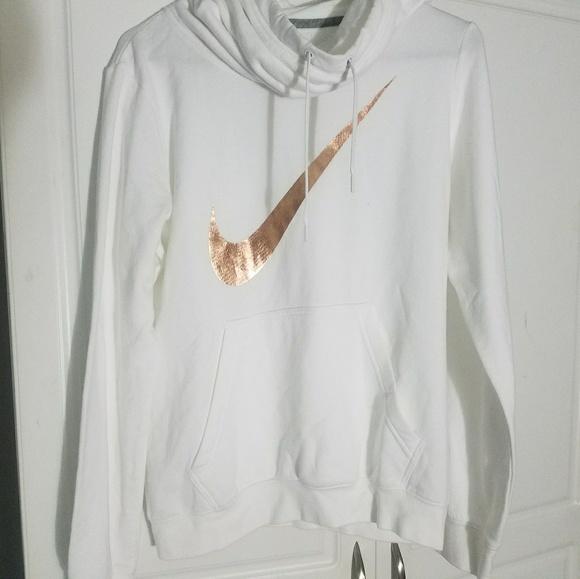 Nike Sweaters Rose Gold White Hoodie Size M Poshmark